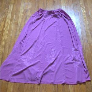 Vintage pink maxi skirt